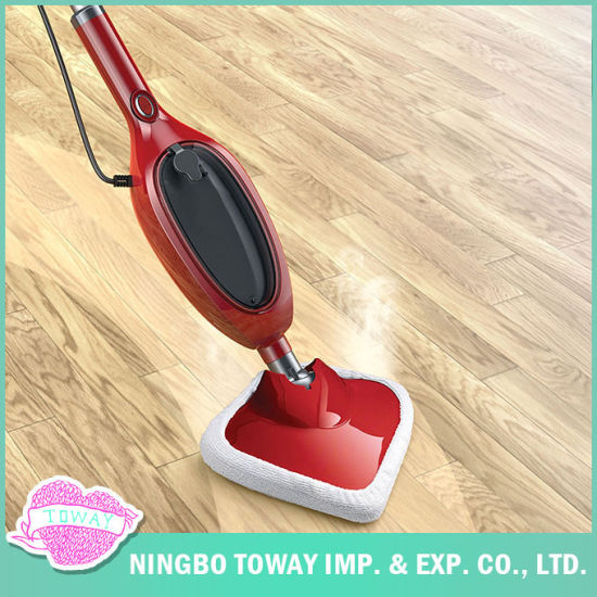 China Floor Cleaning Long Handle Microfiber Triangle Electric Steam
