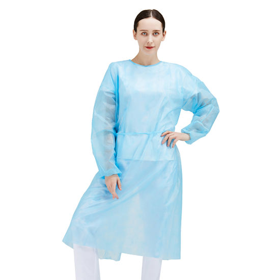Disposable Non Woven PP/PE/SMS/SMMS Isolation Gown Protective Clothing