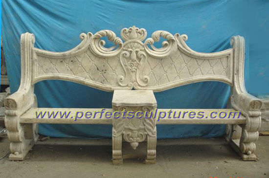Carved Stone Marble Garden Chair for Garden Decoration (QTC028) pictures & photos