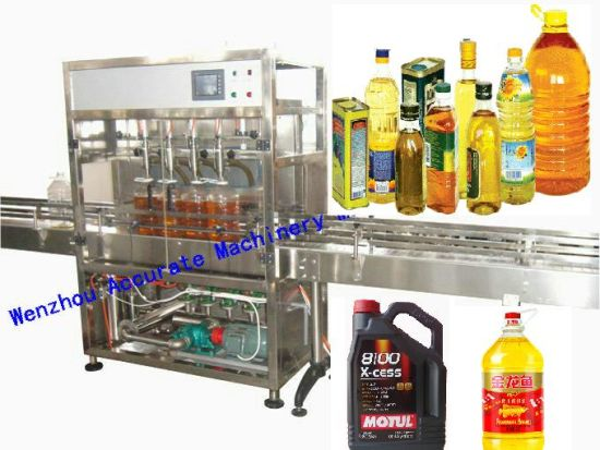 Automatic PLC Controlled Servo Piston Type Liquid Bottle Oil Filling Machine Filler Filling Machinery with ISO Certificate for Packing Machine