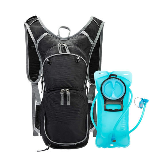 Lightweight Hydration Sport Hiking Running Backpack with 2L BPA Free Bladder and Helmet Holder