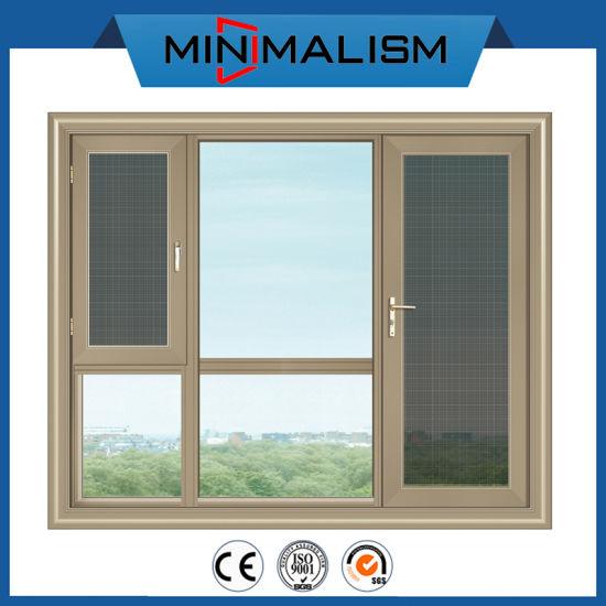 Sliding Door Aluminium Casement Window with Double Clear/Tinted Glazing