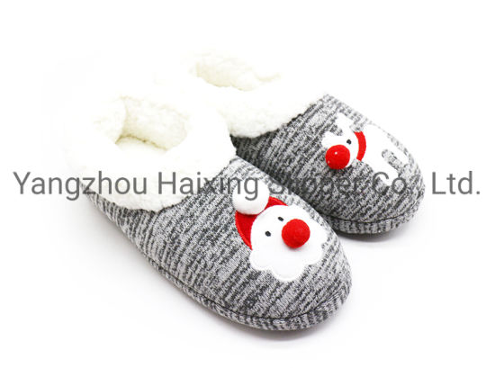 Christmas Decoration Gift Safety Winter Bedroom Indoor Toy Slippers Shoes for Kids