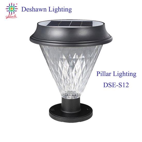 IP65 Waterproof Outdoor Lighting Quality Garden Lighting Solar Pillar Light