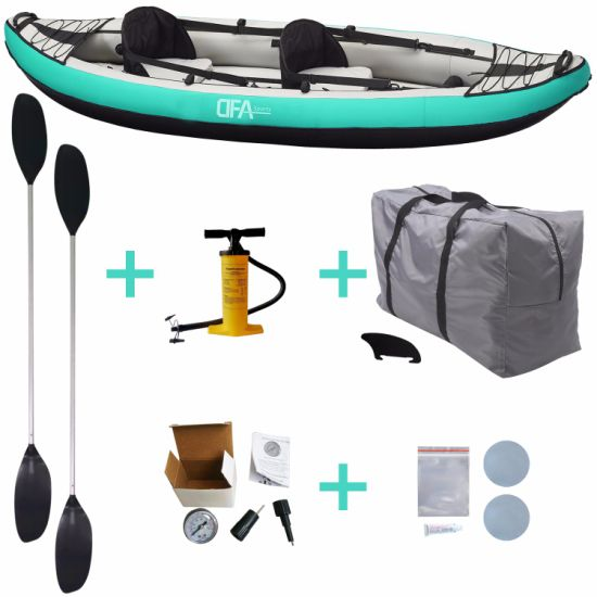 Dfaspo 2 Person Inflatable New Design High Quality Fishing Boat Canoe Kayak