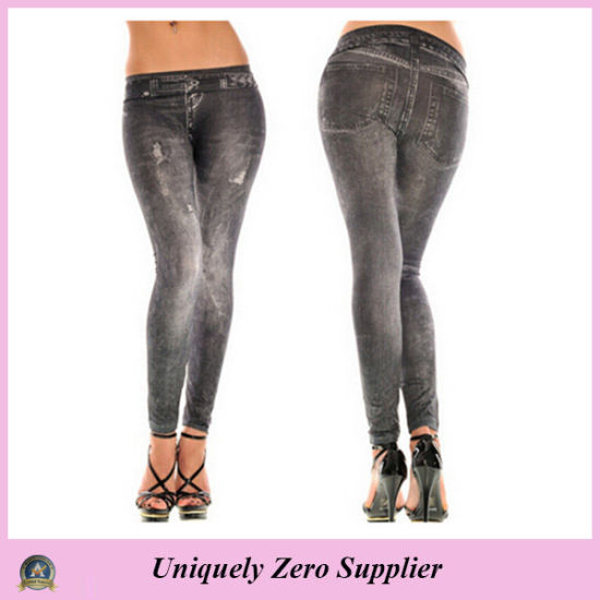2016 Hot Sale Women Sexy Many Patterns Denim Jean Stretchy Leggings (89714) pictures & photos