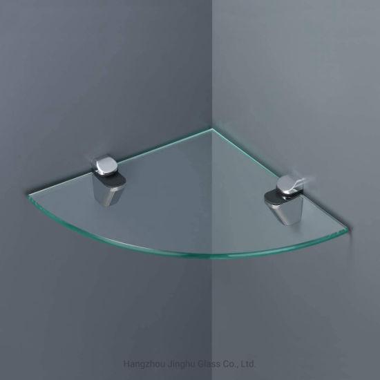 6mm 8mm Bevel Edge Tempered Glass Laminated Silkscreen Tempered Glass Shelf