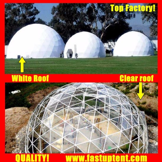 New Design White Diameter 10m Geodesic Dome Tent for Catering