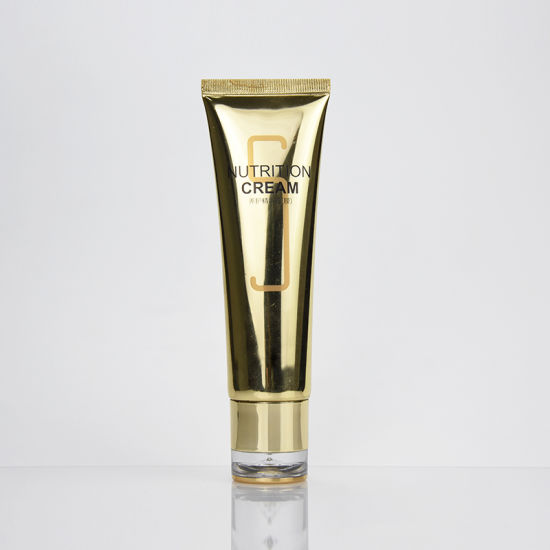 Gold Cosmetic Soft Tube Packaging with Acrylic Cap pictures & photos