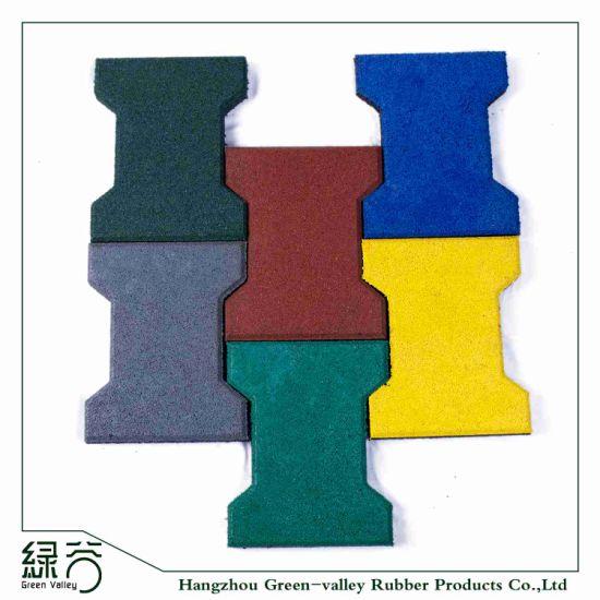 Factory Customized Anti-Slip Interlocking Outdoor Bone Rubber Flooring Tiles Pavers for Walkway/Park /Yard Floor/Garden/Playground