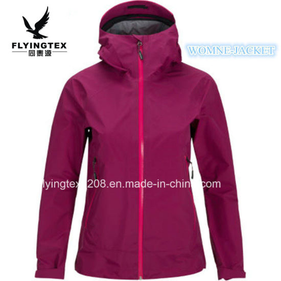 Hot Sale Casual Windproof Polyester Fabric Women's 3 Layers Jacket