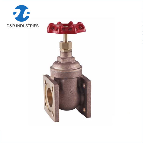 Gear Operated Water Gate Valve with Screw Mounting, Brass Gate Valve