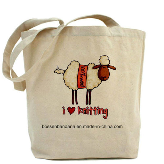 OEM Customized Design Print Organic Cotton Tote Shopping Bag Factory pictures & photos
