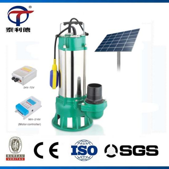 48 Volt 2 Inch Sewage Submersible Solar Water Pump Price pictures & photos