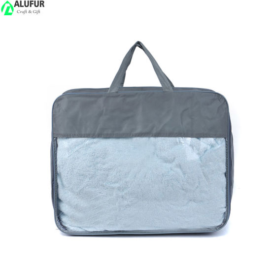 Customzied Printed Reuable Quilt Blanket Organizer Bag with Clear Window
