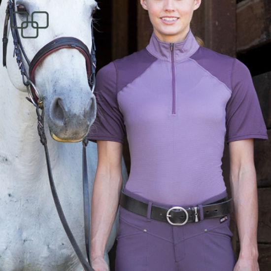 Trade Assurance Equestrian Wear Ladies Polo Formal Cheap Long Sleeve Women Jersey Sexy Shirts Horse Riding Uniform Polo Shirt