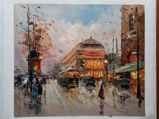 Handmade European City Landscapes Oil Paintings On Canvas China Handmade Oil Paintings And Canvas Oil Paintings Price Made In China Com