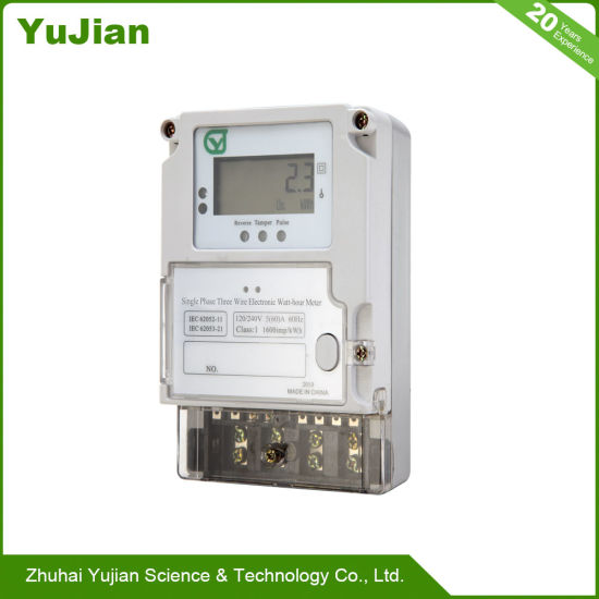Single Phase 2 3 Wires Digital Electrical Energy Meter 120v