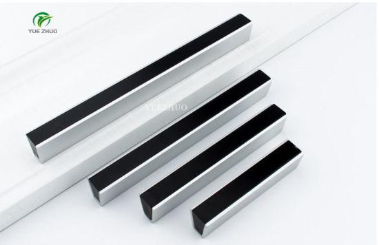 China 64mm Foshan Aluminium Silver Cabinet Drawer Pulls Black