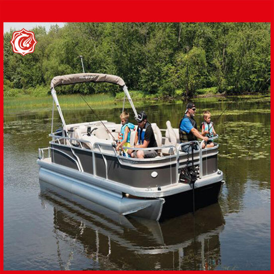 27FT Luxury Aluminum Pontoon Boats for Party, Fishing, Sport