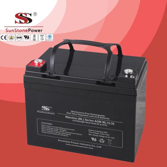China Ml Series 12v 35ah Solar Battery Deep Cycle Battery Agm Lead Acid Battery China Telecommunication Deep Cycle Battery