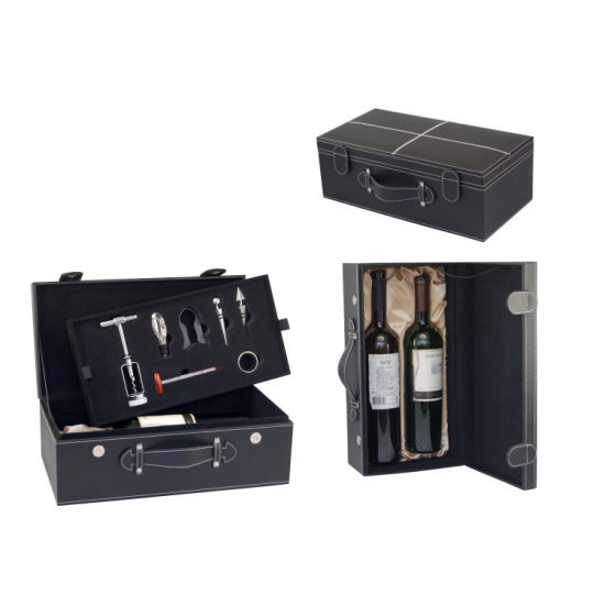 Wholesale New Design Dual Wine Box with Accessories (2871)