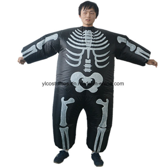 High Quality Halloween Inflatable Skeleton Costume Inflatable Costume for Adults  sc 1 st  Yiwu Yelong Costumes Factory & China High Quality Halloween Inflatable Skeleton Costume Inflatable ...