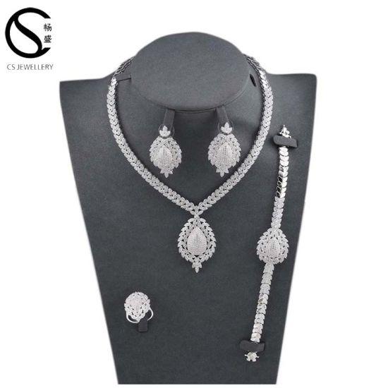 ecadef430 Alibaba Unique and Beautiful Real Wholesale New Fashion Women Luxury Jewelry  Set E-7297