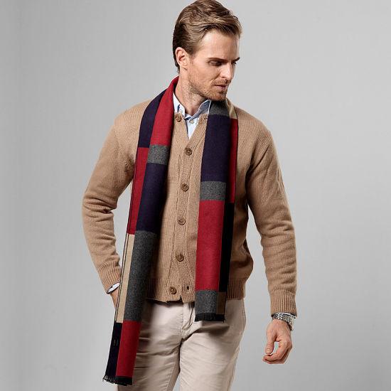 993c6188752ca Luxury Men Scarf Business Style Men's Scarves Neckerchief for Male Winter  Shawl