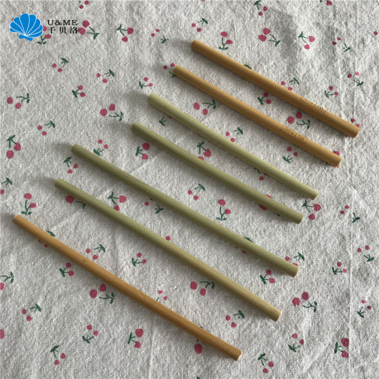 Wholesale Drink Drinking Reusable Biodegradable Eco-Friendly Bamboo Straw