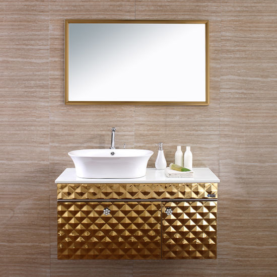 China Factory Direct Bathroom Furniture Wall Mounted Vanity