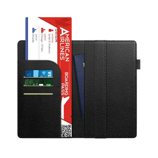 1f375110340 RFID Blocking Litchi Grain PU Leather Travel Passport Holder Wallet  pictures   photos
