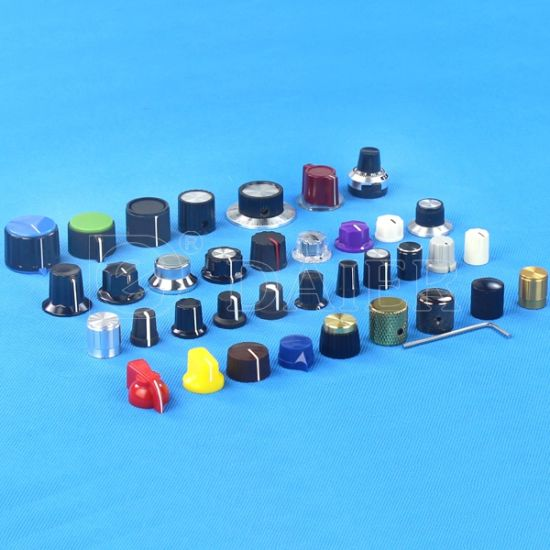 Colorful Rotary Guitar Plastic Knob for Potentiometer with Scalloped Edge