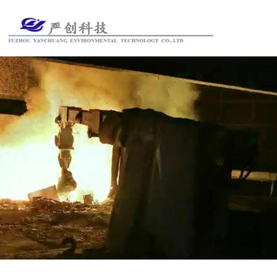 Manipulator Arm Robot for Induction Furnace Scrap Charging Assistance Non Ferrous Metals Metal Melting