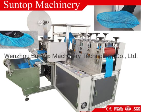 Automatic Disposable PP Non Woven Anti-Skid Shoe Cover Making Machine by Ultrasonic