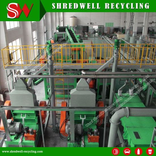 Cost-Effective Rubber Crumb Recycling Machine for Waste/Used/Scrap Tire Shredding pictures & photos