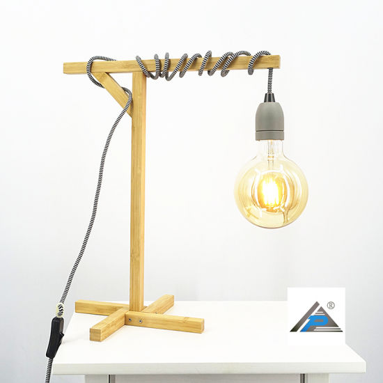 Bamboo Stand Table Lamp with Hanging Light (C5007401) pictures & photos