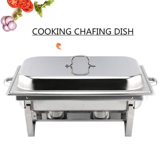 China Supplier Stainless Steel Chafing Dish Buffet Chafing Warming Dish Restaurant Buffet Stove