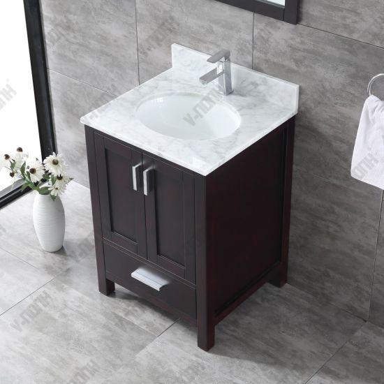 China Cherry Finish Modern Solid, Small Bathroom Vanity Sinks