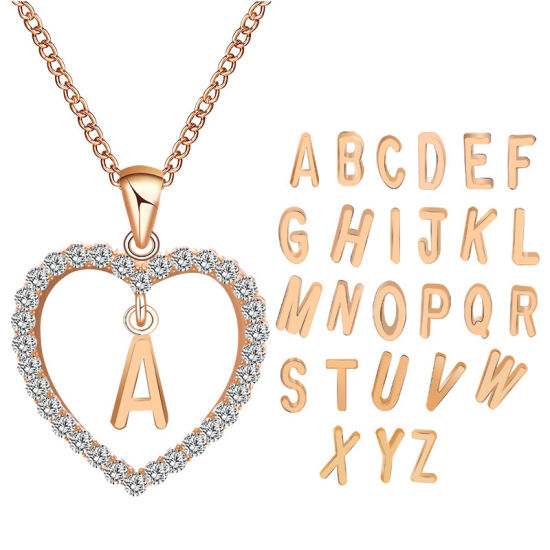 Fashion Customized Personality Named Diamond Heart Women Gold & Silver Plated 26 Letter Necklace pictures & photos