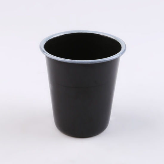 Black Wide Mouth Cup Without Handle