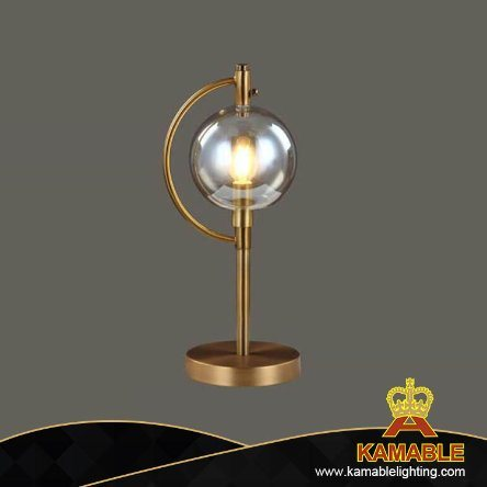 Modern Office Metal Glass Table Lamp (T221)