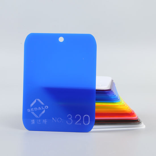 Decorative 2mm Coloured Cast Acrylic Sheet Acrylic Plastic Sheet Customized  Blue Color