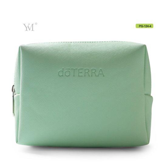 Ladies Mini Custom PU Leather Cosmetic Makeup Pouch Bag