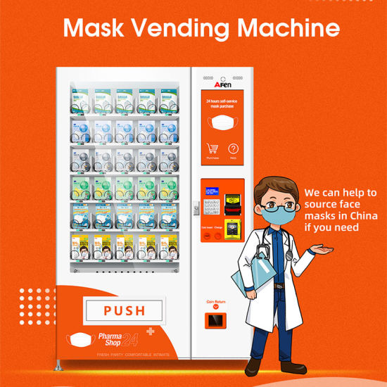 Afen 24 Hours Unattend Healthcare Protective Face Mask Vending Machine