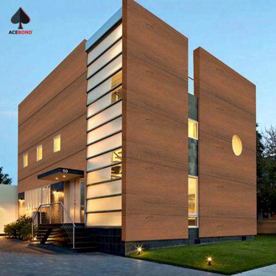 Fireproof Decoration ACP Sheet Aluminum Composite Panel with Wood Grain