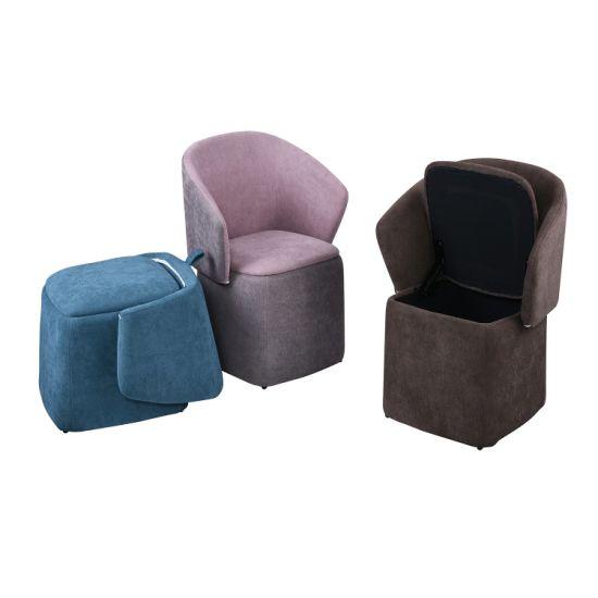 Kids Living Room Playroom Upholstered Toddler Stool (SXBB-122)