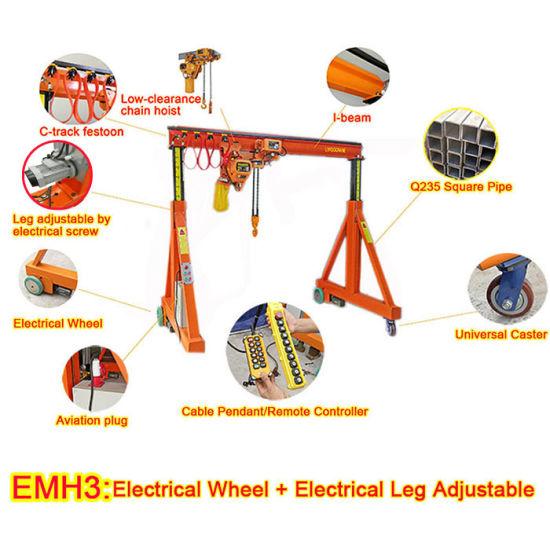 Height Adjustable Manual Portable Small Gantry Crane