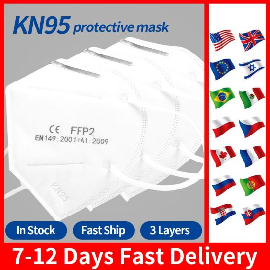 100PCS Disposable Masks Medical Mask Surgical 3-Ply Used as N95 Ffp2 Kf94 Replacements Earloop Face Mouth Mask Free Ship