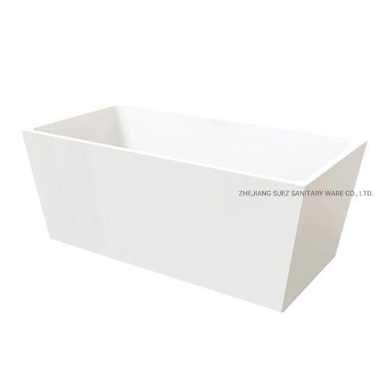 Square Hot Tub Stand Alone Bathtub